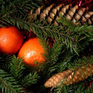 отдушка елка и мандарины